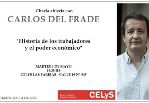 Charla del diputado Carlos Del Frade en el Celys Las Parejas.