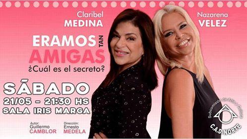 "Sala Iris Marga presenta ""Eramos tan Amigas""."