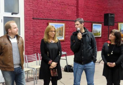 Villa Eloísa: Giaccone asistió a la inauguración de la muestra «Forma y Color».