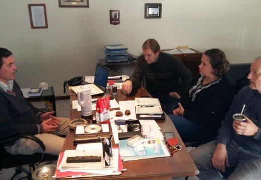 Las Rosas. El intendente Meyer recibio en su despacho al Senador Cornaglia.