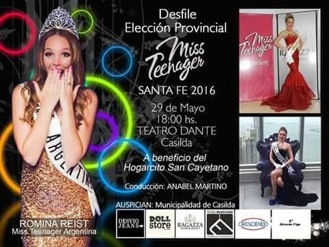 Certamen internacional Miss Teenager 2016.