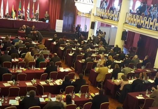 Diego Mansilla en la XXXVIII Sesión Ordinaria del Parlamento del Mercosur.