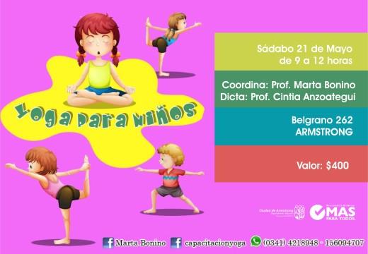 Armstrong. Seminario de Yoga para niños.