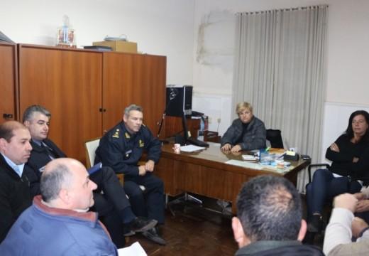 Clérici se reunio con nuevas autoridades de la URX de policía.