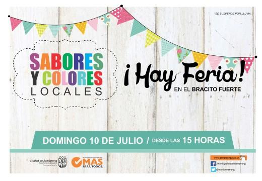 Armstrong. El domingo 10 de julio hay Feria.