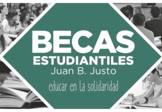 """Becas """"Juan B. Justo"""", para los estudiantes del Departamento Belgrano."""