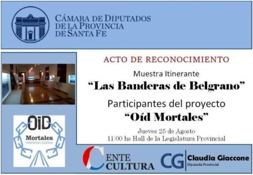 La cámara de Diputados distinguira la muestra «Las Banderas de Belgrano»