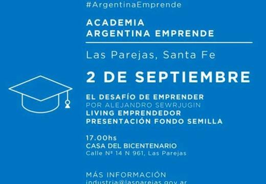 Las Parejas: invitan a participar del taller «El desafío de Emprender».