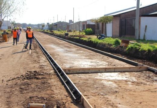 Cañada de Gómez. El municipio avanza con un nuevo frente de pavimento.
