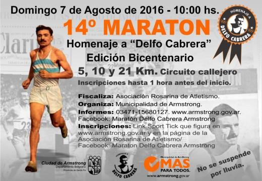 Armstrong. Cuenta regresiva para la Maratón Delfo Cabrera.