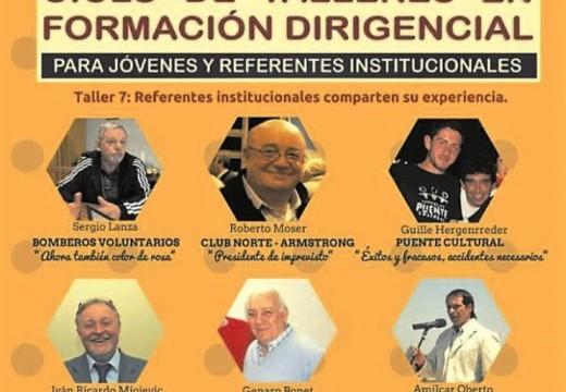 Carcarañá invita al Ciclo de Talleres en Formación Dirigencial.