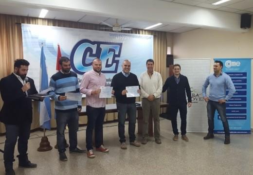 Premiaron a jóvenes empresarios de Cañada de Gómez.