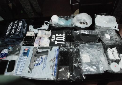 Allanamiento con secuestro de drogas en Rosario