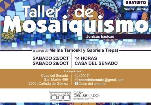 TALLER DE MOSAIQUISMO EN LA CASA DEL SENADO