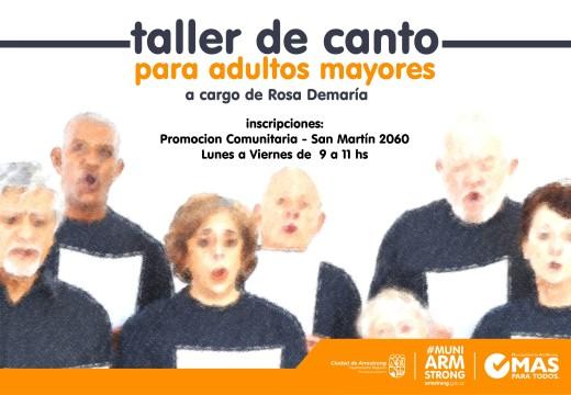 Armstrong. Taller Municipal de canto para adultos mayores.
