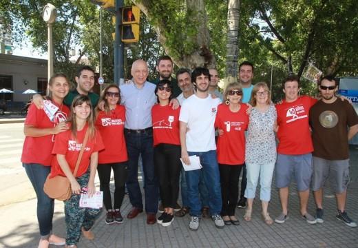 El Partido Socialista realizó una campaña de afiliación en todo el país.