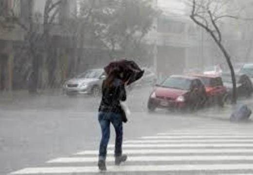 Alerta meteorológico por tormentas fuertes y lluvias intensas.