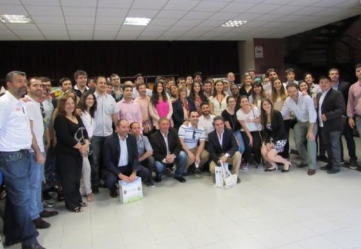 Compagnucci, recibió a una delegación de futuros diplomáticos de Cancillería de la Nación.