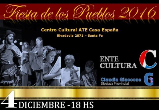 """La """"Fiesta de los Pueblos"""" será el 4 de diciembre en Santa Fe."""