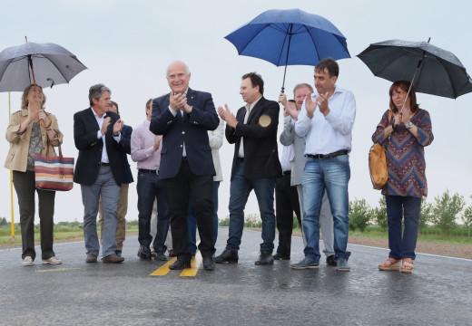 Lifschitz inauguró la repavimentación de la ruta provincial nº 66.