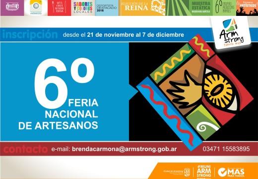 Convocatoria para la 6ª Feria Nacional de Artesanos.