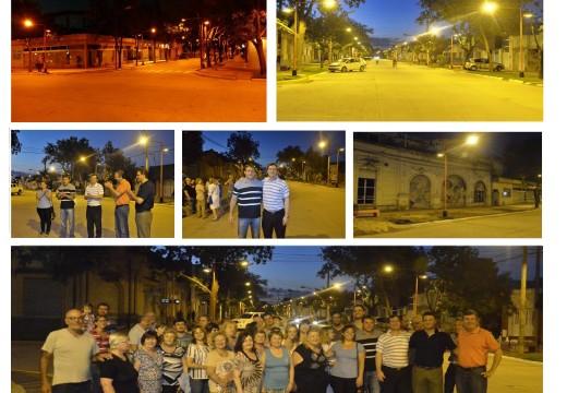 Habilitación de nueva luminaria en el centro de la ciudad.