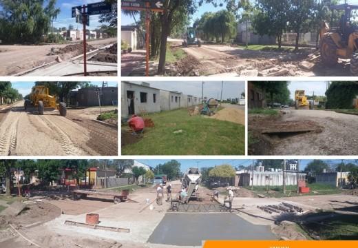 Armstrong. Avances en obras públicas, pavimento, mejorado y abovedado.