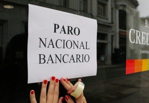 Bancarios lanzaron un paro nacional para el jueves 15 de diciembre.