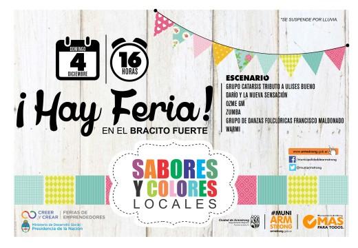 Feria de fin de año de Sabores y Colores Locales.