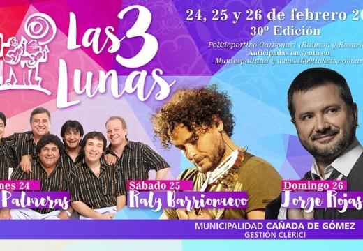 Cañada de Gómez. Las Tres Lunas ya tiene artistas confirmados.