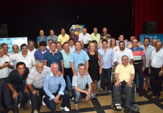 Intendentes y presidentes comunales justicialistas se reunieron en Pérez.