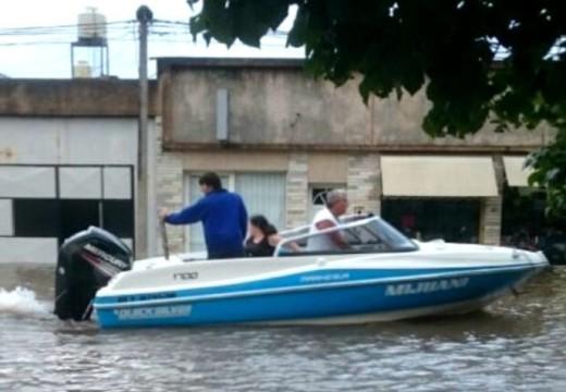 Diluvio y angustia, otra vez: cientos de evacuados en el sur provincial.