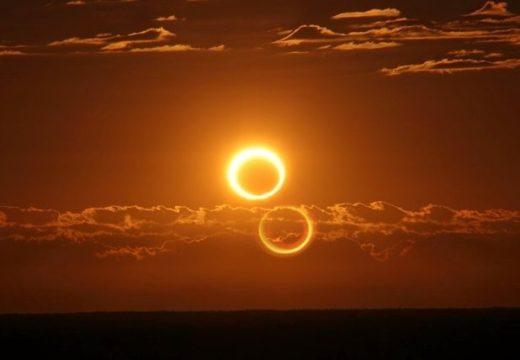 Deslumbrados: el eclipse de sol cautivó a los argentinos en la mañana del domingo.