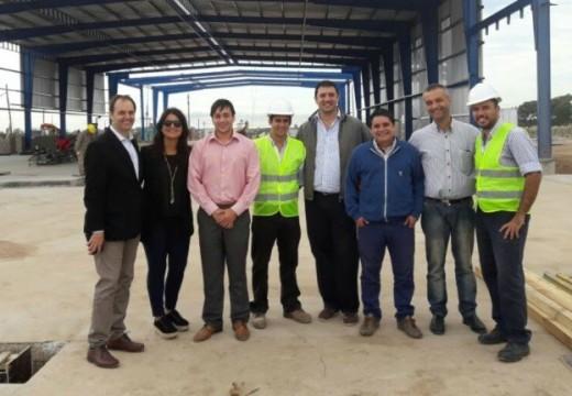 Avanzan las obras de la nueva planta para el reciclado de silos bolsa en Cañada de Gómez.