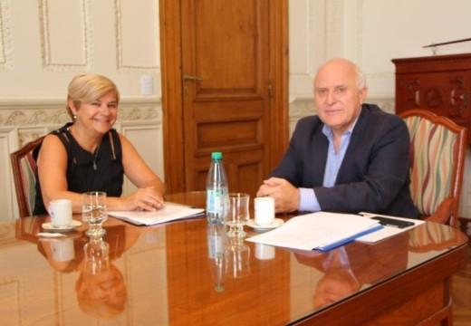 Clerici junto a Lifschitz en apertura de ofertas de obras para la ciudad.