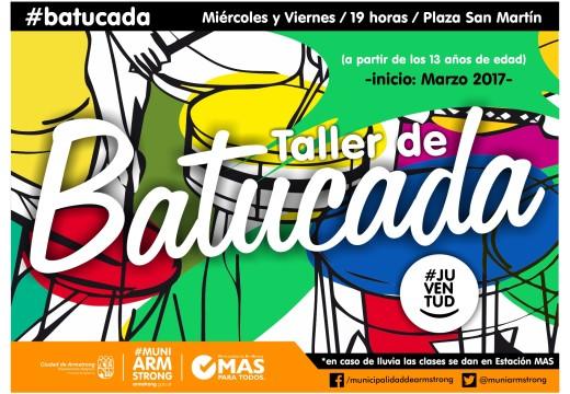 Armstrong. El viernes 3, inicia el taller de Batucada.