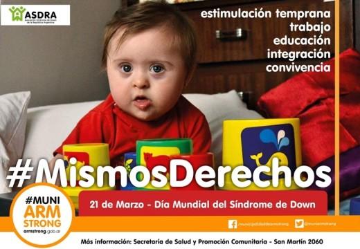 Día Mundial de las personas con Síndrome de Down. Mismos Derechos.