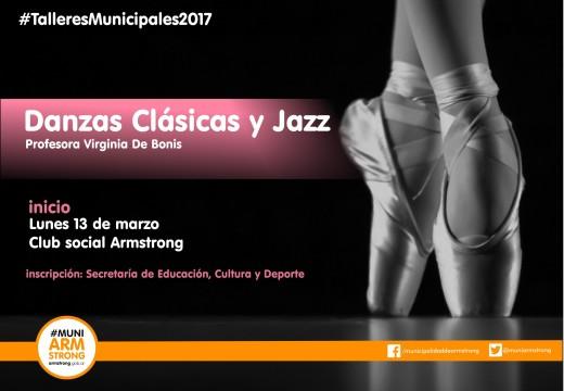 Armstrong. Inicio del taller municipal de danzas clásicas y jazz.