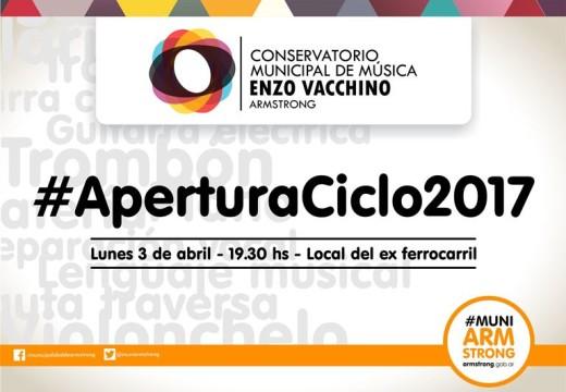 "Armstrong. Ciclo 2017 del Conservatorio Municipal ""Enzo Vacchino""."