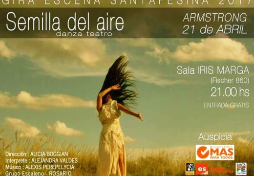 «Semilla del aire» (danza-teatro) en Sala Iris Marga.