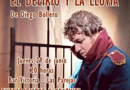 Las Parejas. En el «Bar Victoria» se presentará la obra «El Delirio y la lluvia».