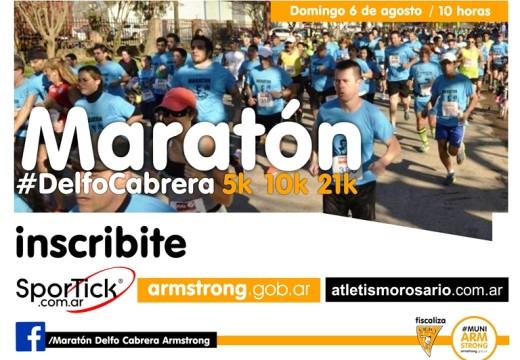El 6 de agosto llega la Maratón Homenaje a Delfo Cabrera.