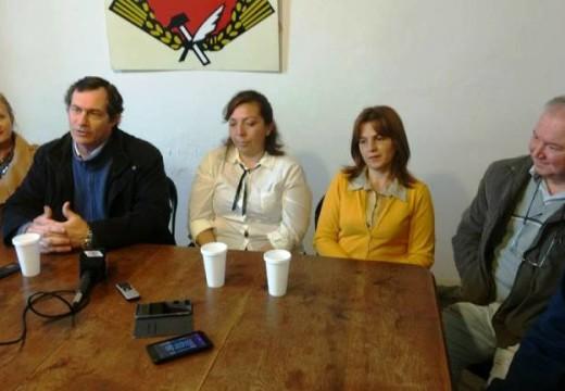 Verdecchia en conferencia de prensa lanzo su reelección.