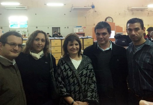 La Ministra de Seguridad Patricia Bullrich visitó la ciudad de Las Rosas.