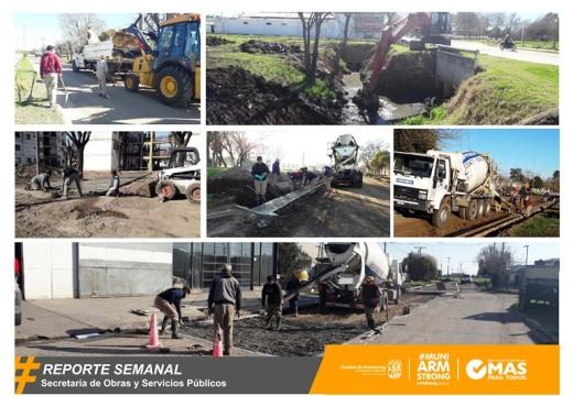 Reporte Semanal de Obras y Servicios Públicos 18/08/17.