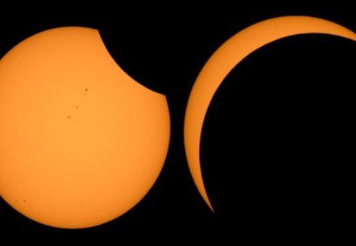 Hoy se concretó el esperado eclipse de sol.