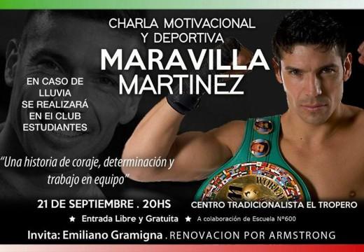Charla Motivacional y Deportiva con Sergio Maravilla Martínez.