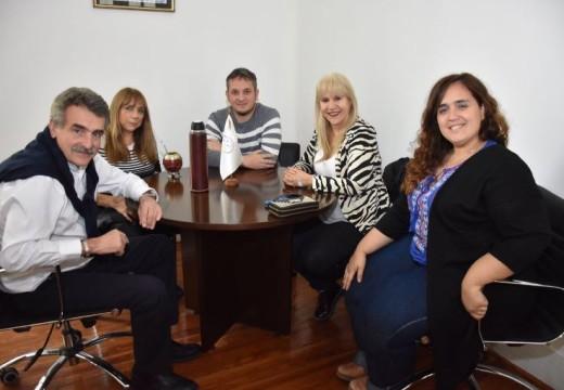 Rossi y Mansilla se reunieron con dirigentes del Sind. de Empleados de Comercio.