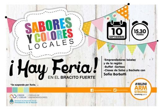Feria de Colores y Sabores estará presente el domingo 10 de Septiembre.