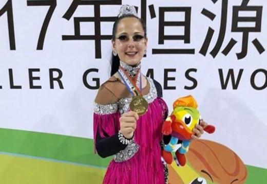 Patín: Angie la parejense Campeona del Mundo.